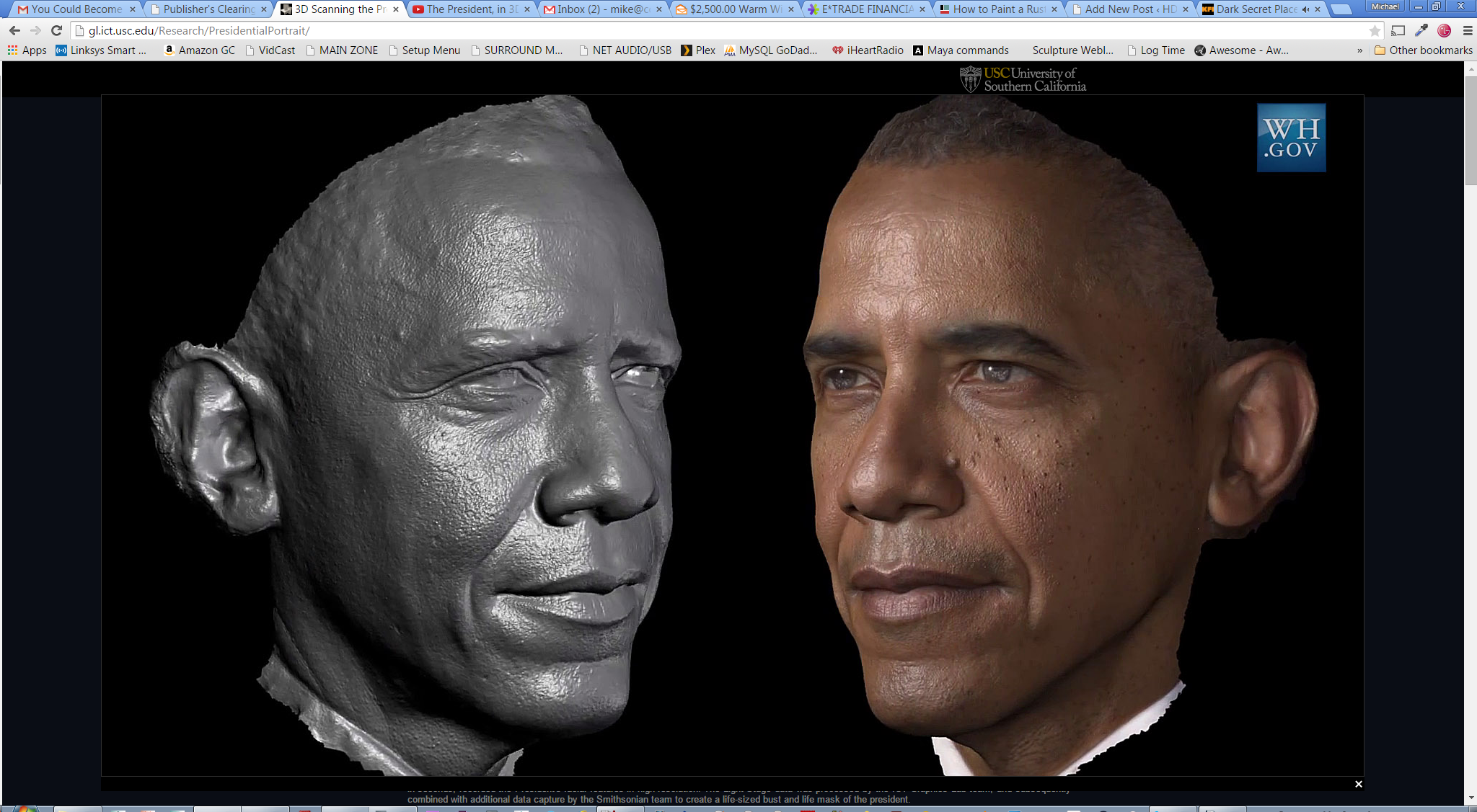 3D President Obama Scan